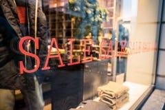 销售标志(商店窗口) 库存图片