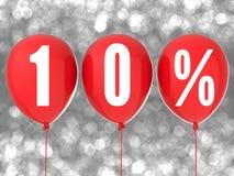 10%销售标志 免版税库存照片