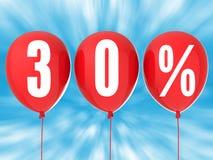 30%销售标志 免版税库存照片