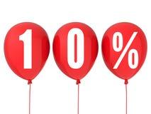 10%销售标志 免版税库存图片