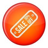 销售标记象,平的样式的30% 免版税库存图片