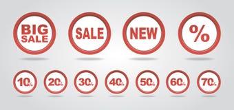 销售标记 免版税库存图片