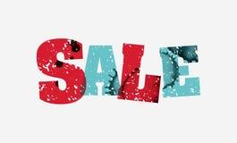销售概念被盖印的词艺术例证 库存照片