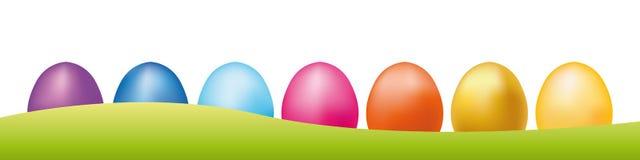 销售横幅的复活节彩蛋 销售的愉快的esater传染媒介背景 库存图片