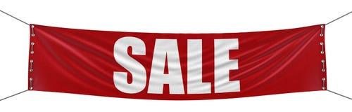 销售横幅(包括的裁减路线) 免版税库存照片