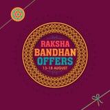 销售海报、横幅或者飞行物Raksha的Bandhan 免版税库存图片