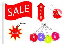 销售消息和象货物设计 免版税库存照片