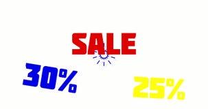 销售电视节目预告横幅特价 库存例证