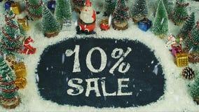 10%销售的停止运动动画 库存照片