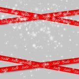 销售红色横幅 皇族释放例证