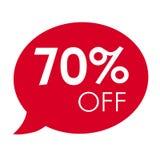 销售红色讲话泡影标记传染媒介例证的特价优待70% 库存照片