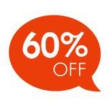 销售红色讲话泡影标记传染媒介例证的特价优待60% 免版税库存图片