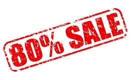 80%销售红色邮票文本 库存照片