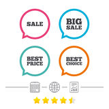 销售象 最佳的选择,价格标志 皇族释放例证