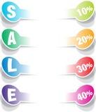 销售额可实现的纸贴纸要素 免版税图库摄影