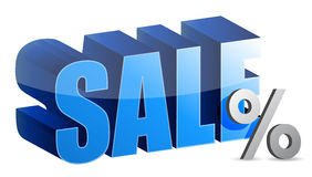 销售额和百分率符号文本 免版税库存照片