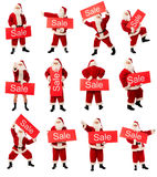 销售额圣诞老人 库存图片