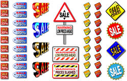 销售额符号 免版税图库摄影