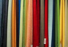 销售额纺织品 库存照片
