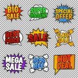 销售额集合标签向量 免版税库存图片