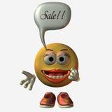 销售额面带笑容 图库摄影