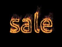 销售额 与烟的火热的信件 3d回报 图象例证 库存图片