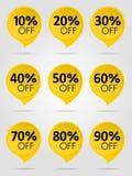 销售黄色标签汇集 免版税库存照片