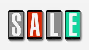 销售,折扣80%,有效的销售警报的促进 皇族释放例证