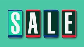 销售,折扣40%,有效的销售警报的促进 库存例证