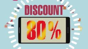 销售,折扣80%,有效的销售警报的促进 version2 皇族释放例证