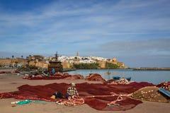 销售,摩洛哥- 2017年3月06日:麦地那拉巴特,摩洛哥看法  库存图片