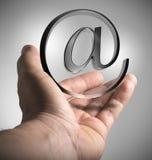 销售,给解答发电子邮件 库存图片