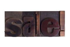 销售! 在活版类型写的词块 免版税库存图片