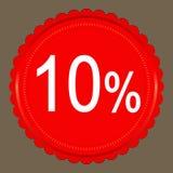 销售10%横幅设计 库存照片