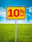 10%销售 库存照片