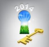 锁上对您的未来2014年概念 皇族释放例证