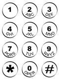 锁上编号填充电话 免版税库存照片