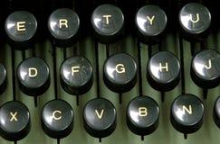 锁上老打字机 免版税库存图片
