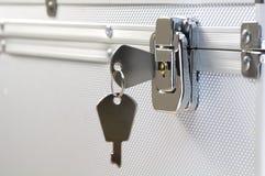锁上衣物柜 免版税库存照片