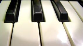 锁上钢琴聚光灯 库存照片