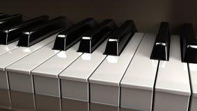 锁上钢琴 图库摄影