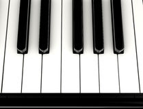 锁上钢琴 库存照片