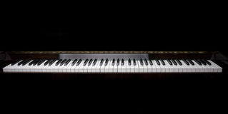 锁上钢琴 免版税库存图片