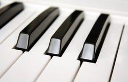 锁上钢琴 免版税图库摄影