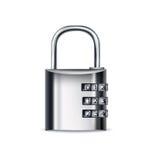 锁与暗号的象被隔绝的 免版税库存图片