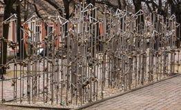 锁卫兵在城市 图库摄影