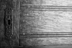 锁和木头纹理 免版税库存图片