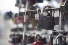 锁和爱 免版税库存照片