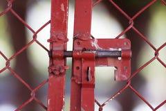 锁和篱芭 免版税库存图片