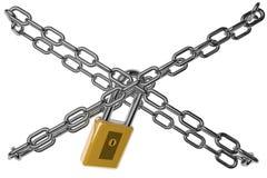 锁和链子 皇族释放例证